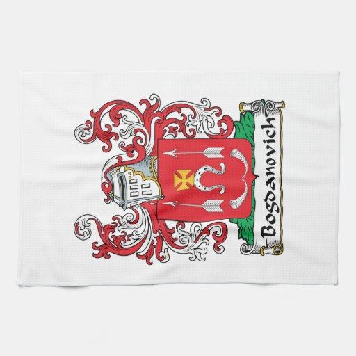 Bogdanovich Family Crest Kitchen Towel