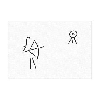 bogenschuetzin arrow bent canvas print