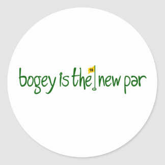 Bogey Is The New Par Classic Round Sticker