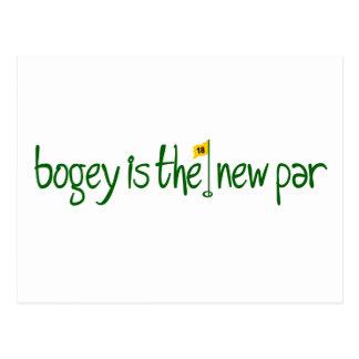 Bogey Is The New Par Postcard