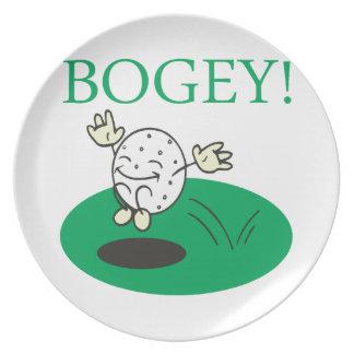 Bogey Melamine Plate