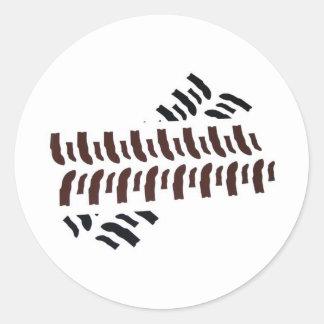 Bogger Tracks Classic Round Sticker