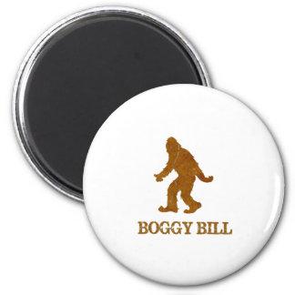 Boggy Bill (Sasquatch) 2 Inch Round Magnet