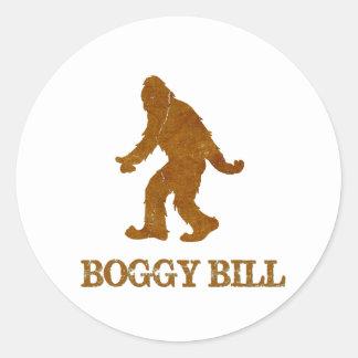 Boggy Bill (Sasquatch) Classic Round Sticker