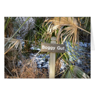 Boggy gut (sorry you're sick) card