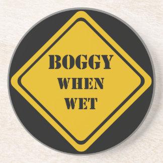 boggy when wet drink coaster