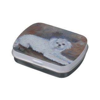 Bogie Dog Pet Portrait Candy Tins