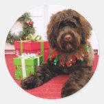 Bogie - Portuguese Water Dog Round Sticker