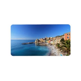 Bogliasco, Liguria, Italy Address Label