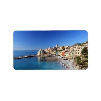 Bogliasco overview, Italy Address Label
