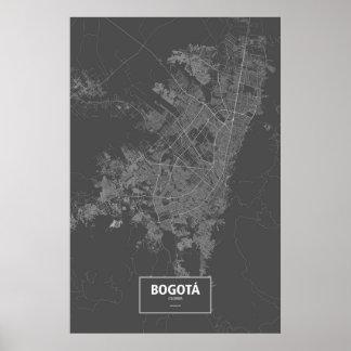 Bogotá, Colombia (blanca en negro) Póster