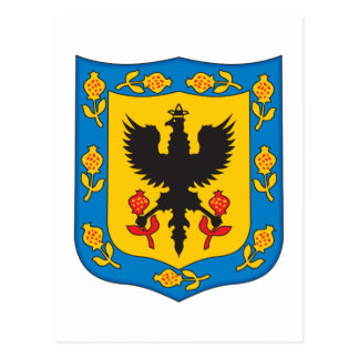Bogota Colombia Coat of Arms Postcard
