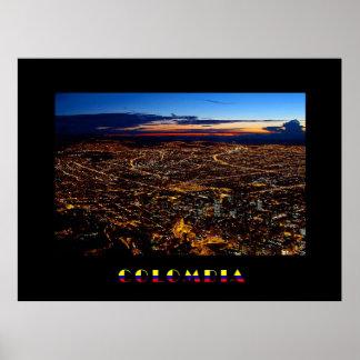 Bogotá Night Panorama Poster