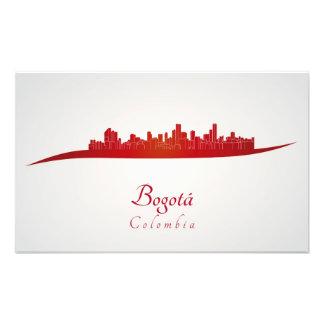 Bogota skyline in red fotografía