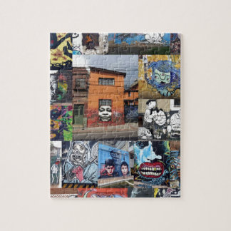 Bogota street art mural montage jigsaw puzzle