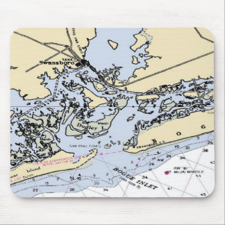 Bogue Inlet Map Mouse Pad