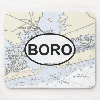 Bogue Inlet Mouse Pad with Boro Oval