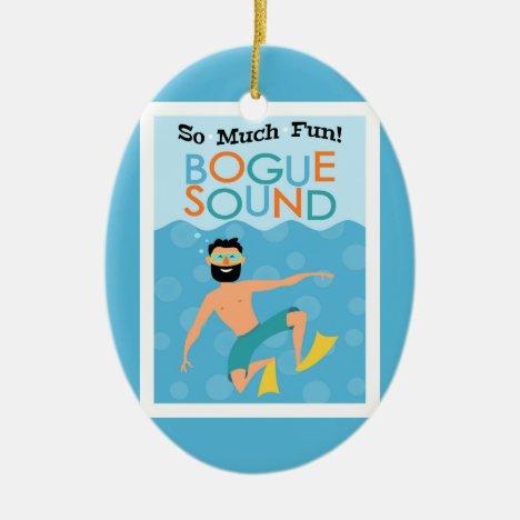 Bogue Sound Fun Hipster Travel Ceramic Ornament