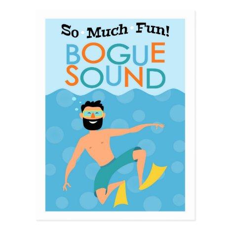 Bogue Sound Fun Hipster Travel Postcard