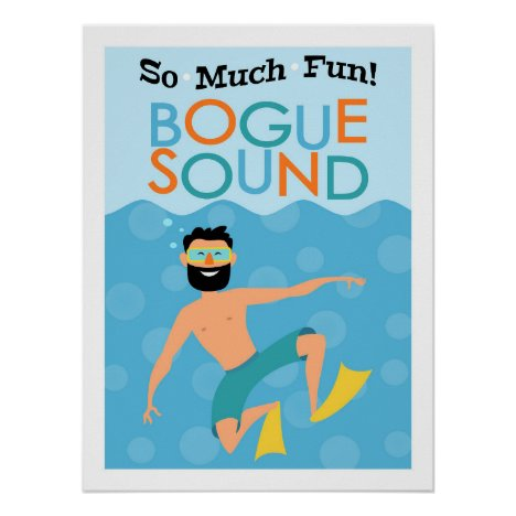 Bogue Sound Fun Hipster Travel Poster