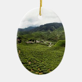 Boh Tea Plantation Ceramic Ornament