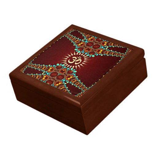 Bohemain Jewel Aum Omkara Lacquered Gift Box