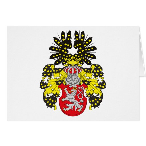 Bohemia Coat of Arms (19th century) Greeting Card