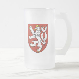 bohemia emblem frosted glass beer mug