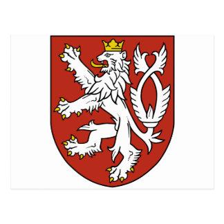 bohemia emblem postcard