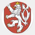 bohemia emblem round stickers