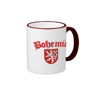 Bohemia Flag 1 (w/inscription) Ringer Mug