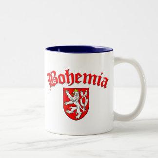 Bohemia Flag 1 (w/inscription) Two-Tone Coffee Mug