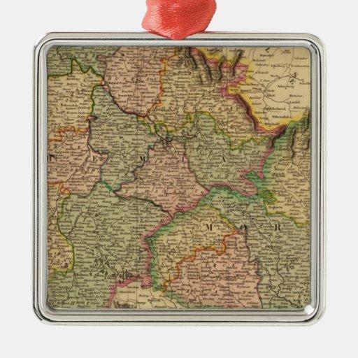 Bohemia, Moravia Adorno Navideño Cuadrado De Metal