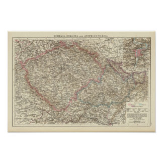 Bohemia, Moravia, austriaco Silesia 2 Póster
