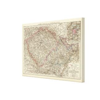 Bohemia, Moravia, austriaco Silesia Impresión En Lienzo Estirada