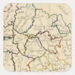 Bohemia, Moravia, austriaco Silesia Pegatina Cuadrada