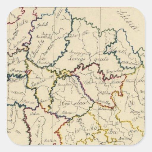 Bohemia, Moravia, austriaco Silesia Colcomania Cuadrada