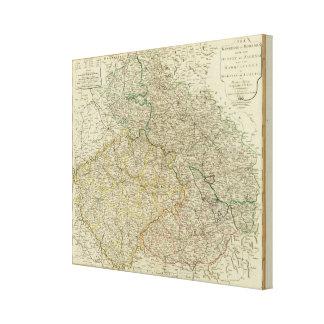 Bohemia, Silesia, Moravia, Lusatia Lona Envuelta Para Galerías