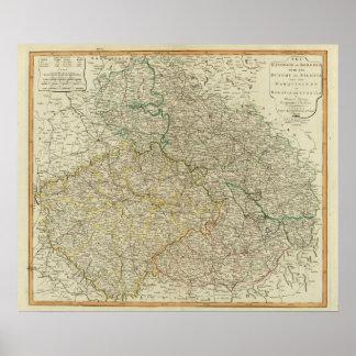 Bohemia, Silesia, Moravia, Lusatia Póster