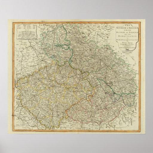Bohemia, Silesia, Moravia, Lusatia Poster