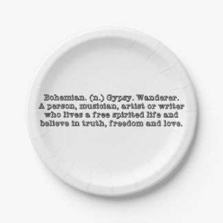 Bohemian 7 Inch Paper Plate