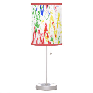 Bohemian Abstract Chevrons Table Lamp