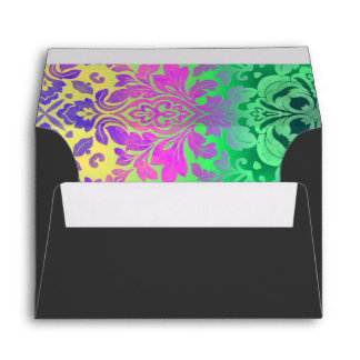 bohemian abstract mint Fuschia purple kaleidoscope Envelope