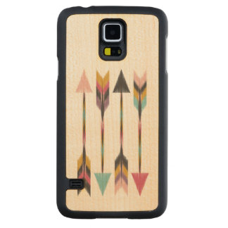 """Bohemian Arrows"" Maple Wood Galaxy S5 Case Carved® Maple Galaxy S5 Slim Case"