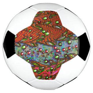 Bohemian art abstract pattern soccer ball