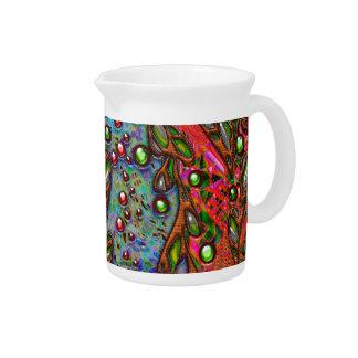 Bohemian Art Organic Abstract Pattern Beverage Pitcher