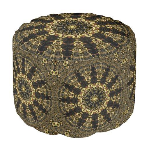Bohemian Batik Star Pouf
