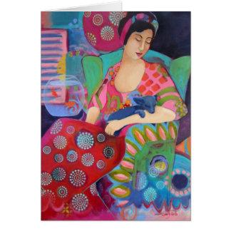 Bohemian Beauty Fine Art Colorful Note Card