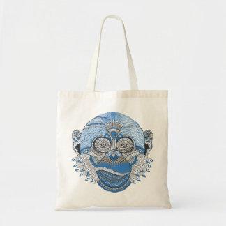 Bohemian Blue Monkey Tote Bag
