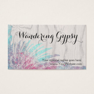 Bohemian Boho Feathers - Wandering Gypsy Business Card